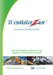 Real time tracking solutions for the Logistics & Transportation ...