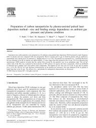 Preparation of carbon nanoparticles by plasma-assisted pulsed ...
