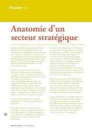 L'énergie, anatomie d'un secteur stratégique - Conseil économique ...