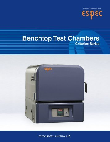 Benchtop Test Chambers - MB Electronique