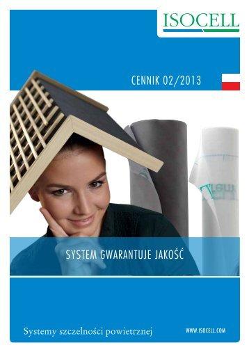 CENNIK 02/2013 SYSTEM GWARANTUJE JAKOŚĆ - Isocell