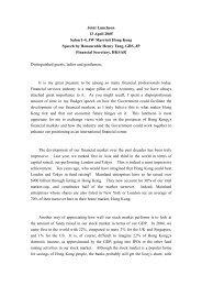 Full Speech - The Hong Kong Capital Markets Association