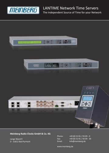 LANTIME Network Time Servers - Meinberg USA
