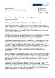 Information om nya fondbestämmelser - Danske Invest