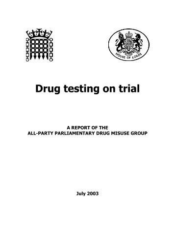 Drug testing inquiry report - DrugScope