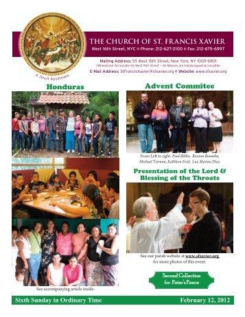 Honduras Advent Commitee - Church of St. Francis Xavier
