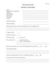 Mansion Rental Application - Strathmore