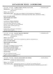 LISTAGEM DE TESES - JANEIRO/2008 - Portal da FOP/Unicamp