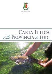 Carta Ittica (18.2 Mb) - Provincia di Lodi