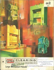 Clearing Large Mechanical Presses General Brochure - Sterling ...