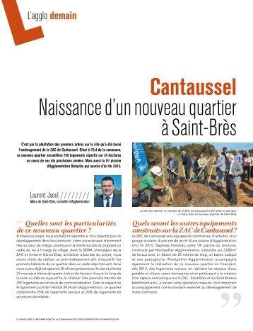 Cantaussel naissance d'un nouveau quartier à Saint-Brès