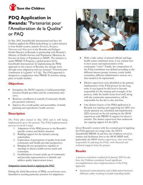 PDQ Application in Rwanda: