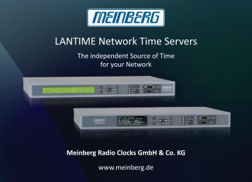 LANTIME Options - Meinberg USA