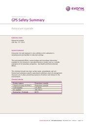 GPS Safety Summary - Evonik Industries AG