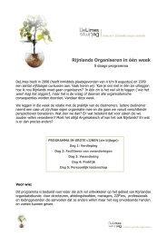 Rijnlands Organiseren in één week - Rijnland weblog