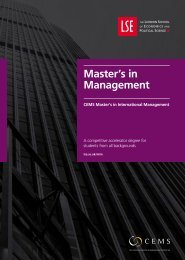 Master's in Management brochure