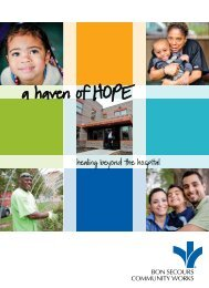 healing beyond the hospital - Bon Secours Baltimore