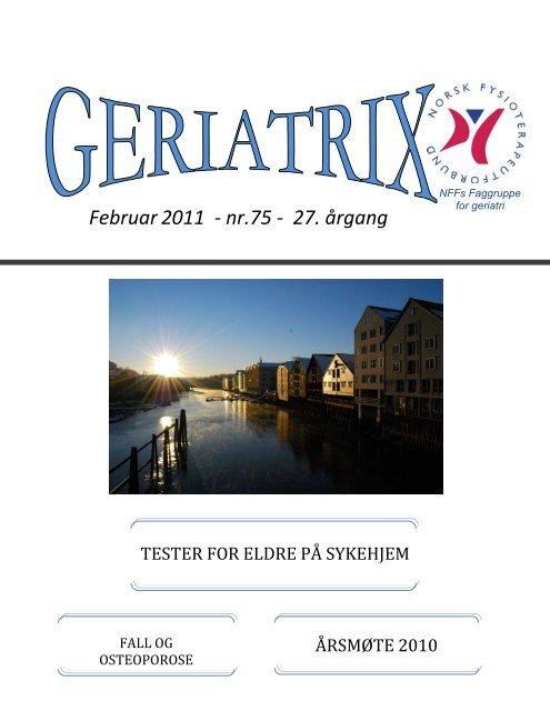 GERIATRIX - 75 - Februar 2011.pdf - Norsk Fysioterapeutforbund