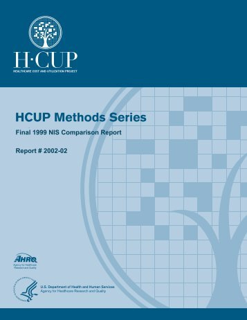 1999 - HCUP - Agency for Healthcare Research and Quality