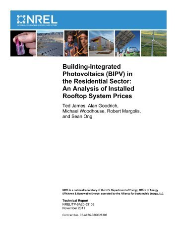 Building Integrated Photovoltaics (BIPV) in the Residential Sector ...