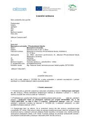 licenční smlouva (vzor) - E-ZAK MUNI - Masarykova univerzita