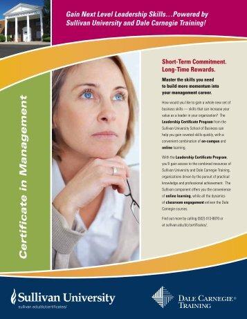 Certificate in Management - Dale Carnegie Training