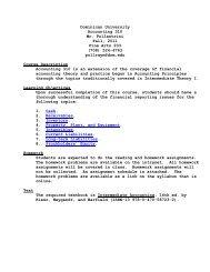 Intermediate Accounting I (Pollastrini) - Dominican University