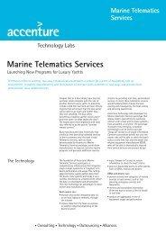 Marine Telematics Services - Accenture