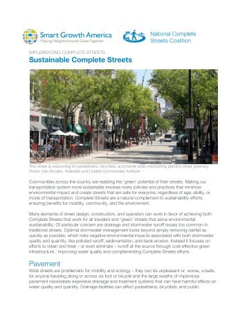 Sustainable Complete Streets Pavement - Smart Growth America