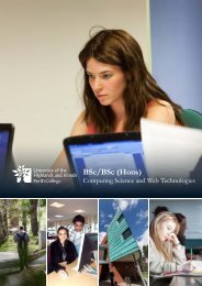 Computing Science and Web Technologies BSc Hons - Perth College