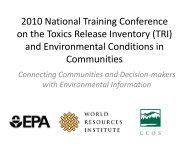 2010 National Training Conference on the Toxics Release Inventory ...