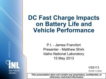 DC Fast Charge Impacts on Battery Life and Vehicle Performance
