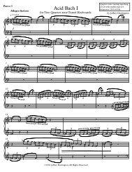 Acid Bach I - Parnasse.com