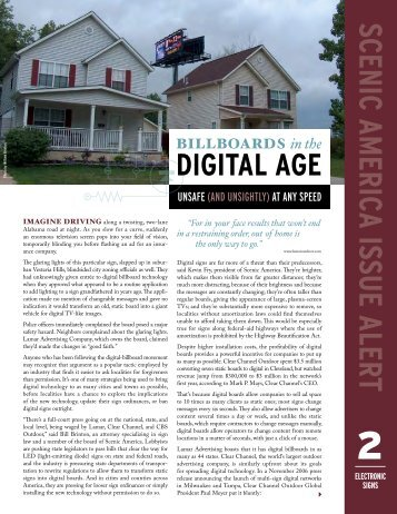 Billboards in the Digital Age - Land Use Law