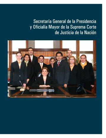 secretaria general - Suprema Corte de Justicia de la Nación