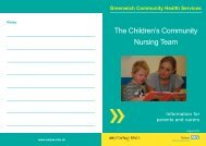 Children's Community Nursing Team leaflet - Oxleas NHS ...