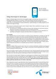 Informasjonsskriv Mobilretur 2013 - Norges idrettsforbund