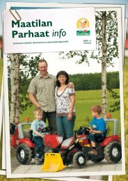 Maatilan Parhaat info 3 / 2009 - Snellman
