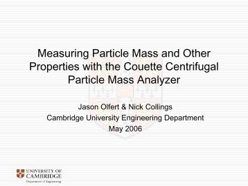 Measuring Particle Mass and Other Properties with the Couette ...