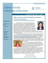 Adjunct Faculty Newsletter, March 2009 - School of Nursing