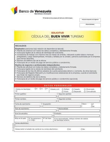I n f o r m a c i nf i for Banco de venezuela solicitud de chequera