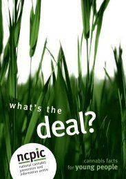 What's the deal? Cannabis facts for young people - National ...