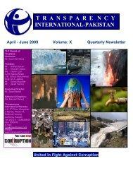 April-June 2009 - Transparency International Pakistan