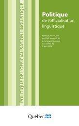 Politique - Office québécois de la langue française