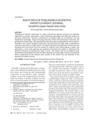 RIGHT PATH OF PUBLISHING A SCIENTIFIC PAPER TO A RIGHT ...