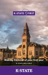 Making the most of your first year - Kansas State University