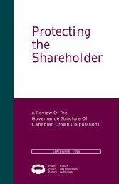 Protecting the Shareholder - Public Policy Forum