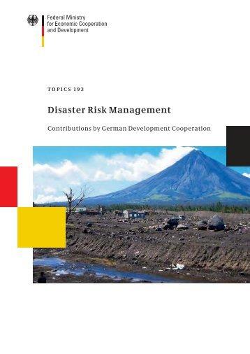 Disaster Risk Management - Riesgo y Cambio Climático