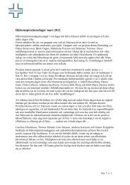 Hälsoinspirationsdagar mars 2012 - Vårdförbundet