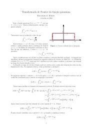 Cálculo da transformada de Fourier da função gaussiana